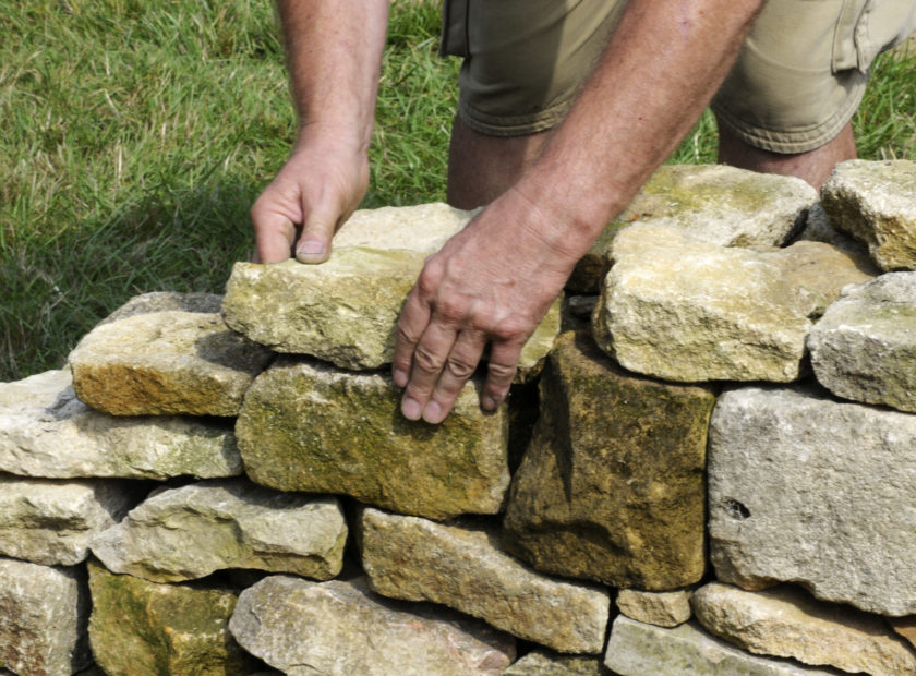 Creating Our Drystone Wall Flower Bower Greener Kirkcaldy