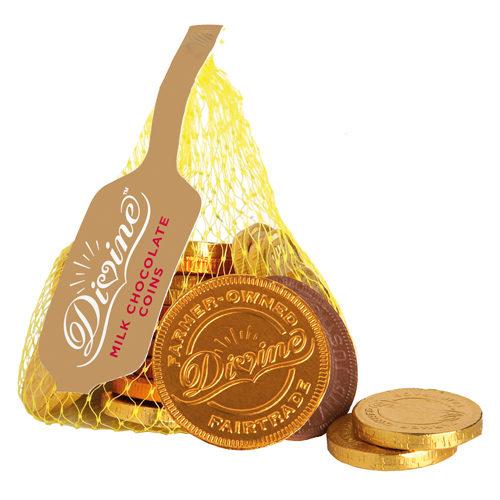 divine chocolate coins