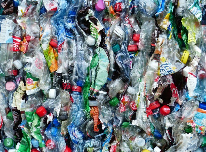 sea of plastic bottles