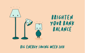 big energy saving week postcard