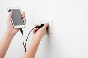 Unplugging phone