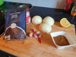 Tarka Daal ingredients
