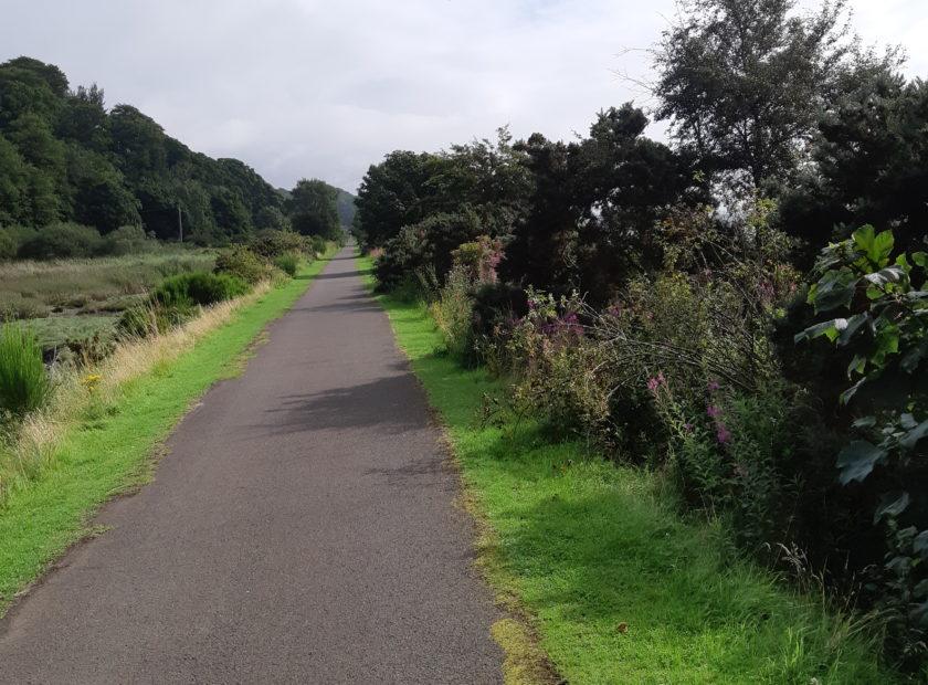 sunny coastal path