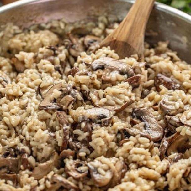 Meat-free mushroom risotto