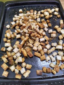 Leftover bread recipes - croutons