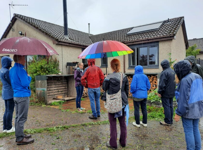 Group of participants at Small Grants Funded event in Auchtermuchty